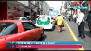Fuga de gas en el centro de la ciudad