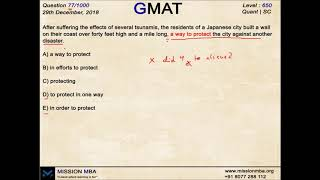 DAILY DOSE 77 | GMAT FREE QUESTIONS | MISSION MBA