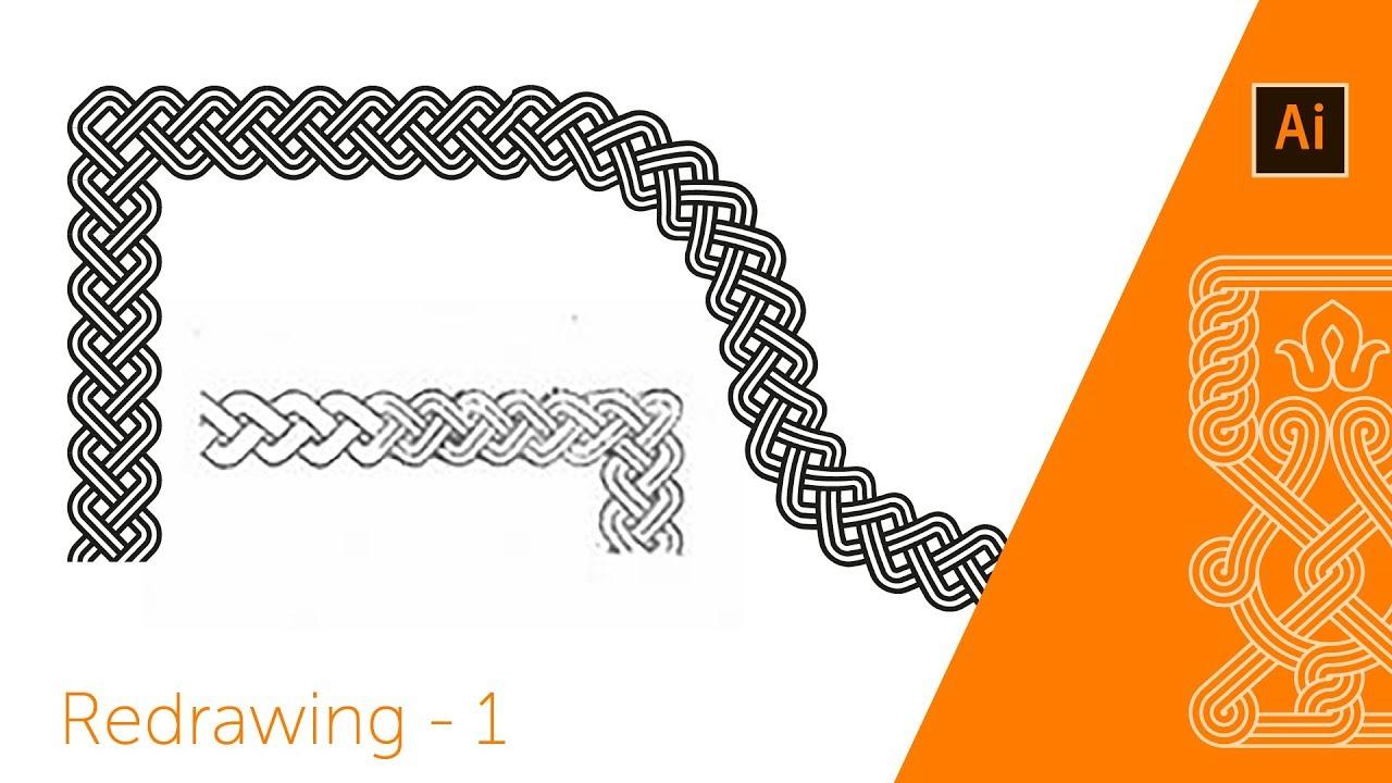 Adobe illustrator pattern brush - linear ornament