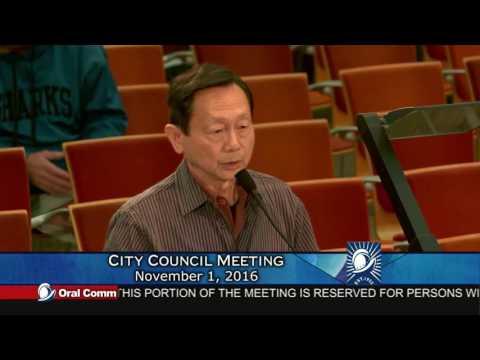 Perpetual Victim Ignatius Ding of Cupertino, Cupertino City Council Meeting 11-1-16