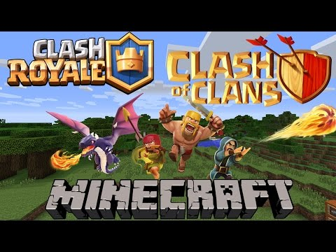 Minecraft Mods | Clash Of Clans & Clash Royale!  | Clash Of Mobs Mod Showcase Review 1.8