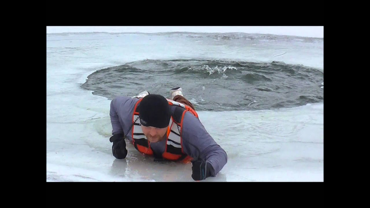 Ice safety how to perform a self rescue youtube for How to freeze fish