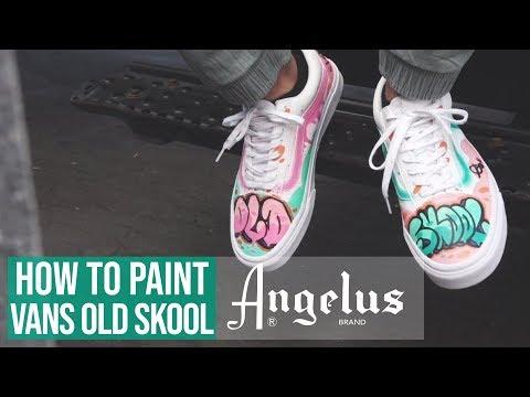 Custom Graffiti Vans | Angelus Paint Markers | Angelus Brand