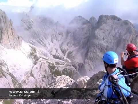 Klettersteig Dolomiten : Rotwand klettersteig dolomiten youtube