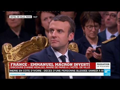 REPLAY - Discours d'Anne Hidalgo, maire de Paris, devant Emmanuel Macron à l'Hôtel de Ville