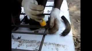 видео Вязка арматуры плитного фундамента лягушками