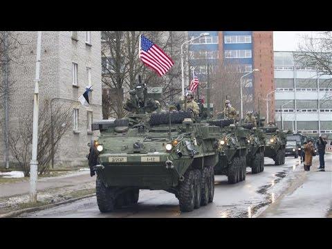 Russie / OTAN : Déploiement militaire américain massif en Europe de l'Est  YouTube