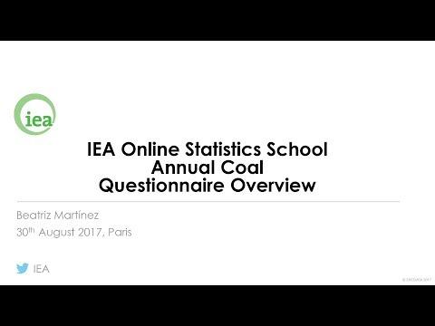 IEA Webinar : Coal Statistics