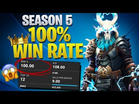 What Season 5 100% Win Rate Looks Like (Fortnite Battle Royale)