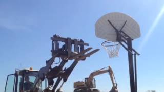 Cayuga-Onondaga BOCES Heavy Equipment Rodeo 2015 Basketball Dunk