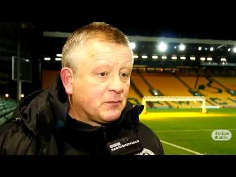 Chris Wilder's Norwich reaction