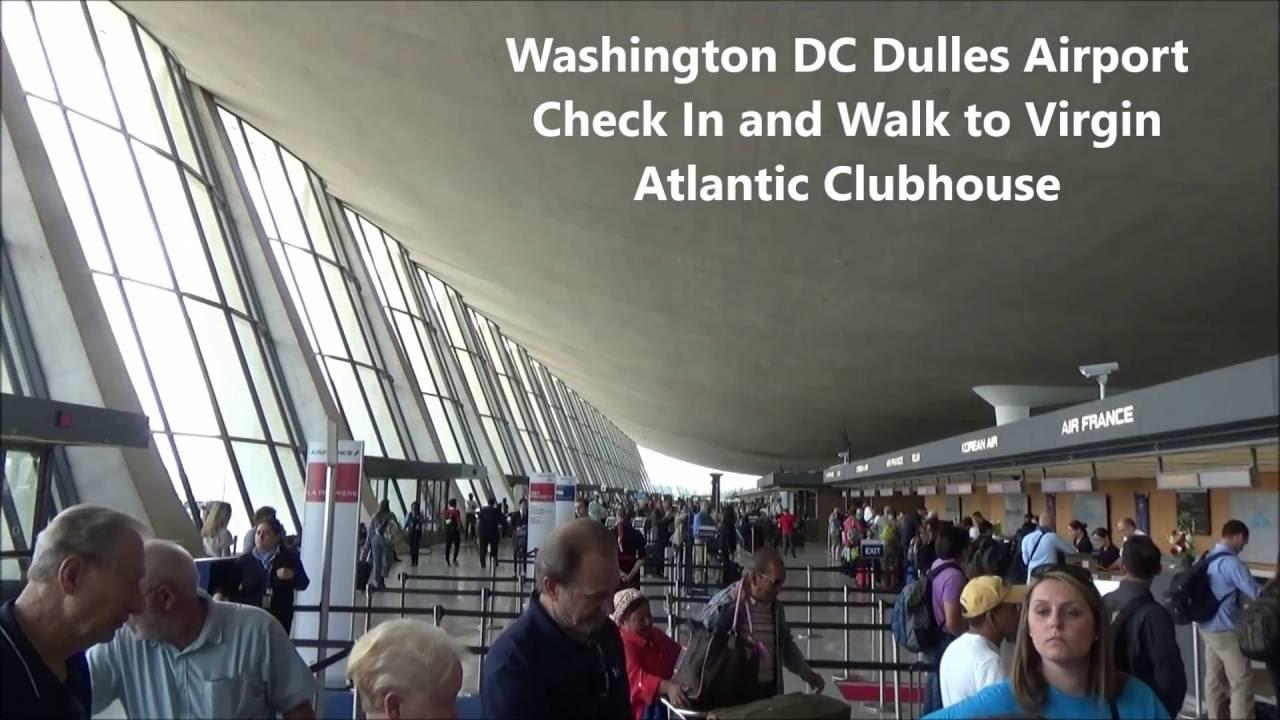 Washington DC Dulles Airport Virgin Atlantic Check