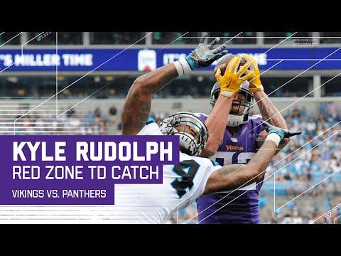 Kyle Rudolph Makes Red Zone TD Grab!   Vikings vs. Panthers   NFL