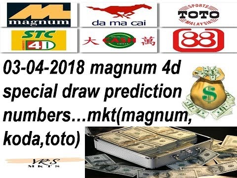 03-04-2018 Magnum 4d special draw(Tuesday) prediction