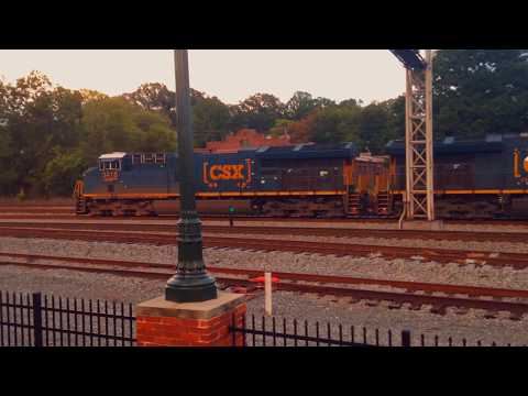 CSX Intermodal Train With Two ET44AH locomotives at Duluth GA