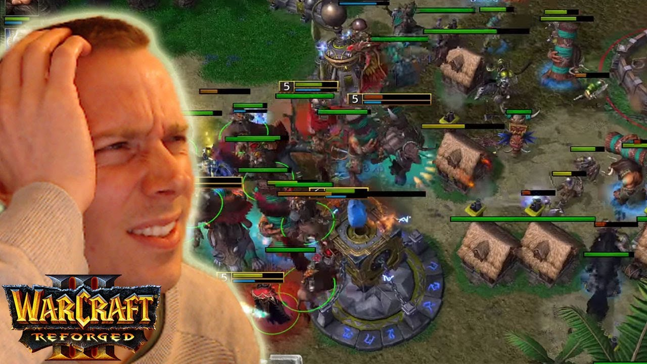 Warcraft 3 Reforged Beta Gameplay Human 4v4 Reaction Video Youtube