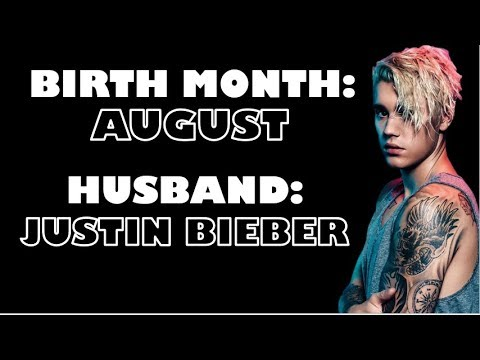 Your BIRTH MONTH Will REVEAL Who Your CELEBRITY HUSBAND Is