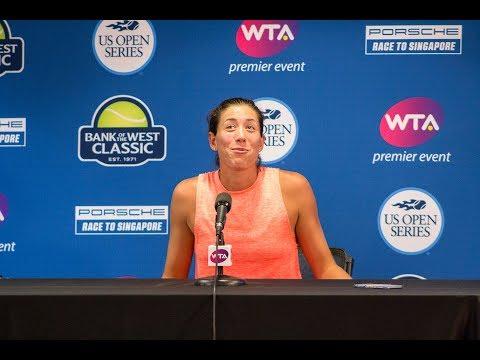 Gabriñe Muguruza - Bank of the West tournament interview