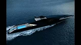 23,000HP Super Yacht the BLACK SWAN