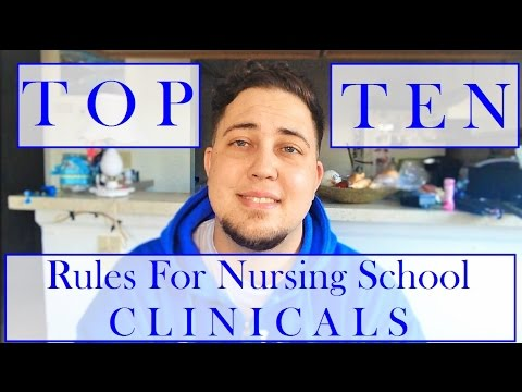 Top 10 Rules for Nursing School Clinicals