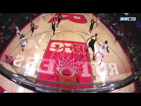 Big Ten Basketball Highlights: Iowa at Rutgers
