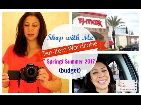 Shop With Me | Ten Item Wardrobe| Spring 2017| Jennifer L  Scott