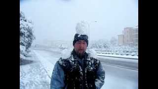SNOW IN MALLORCA SPAIN 2012