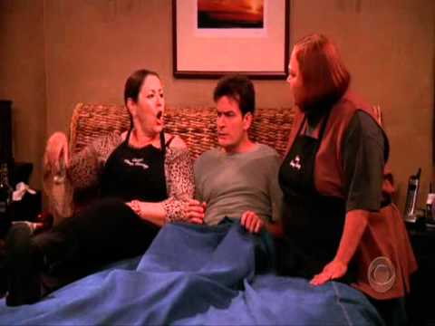 Berta Jumps On Charlie Two And A Half Men Youtube