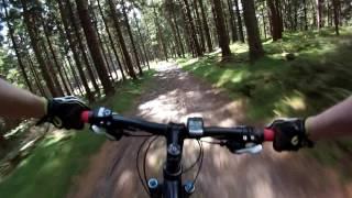 Mountainbike Downhill Abfahrt vom Tillenberg