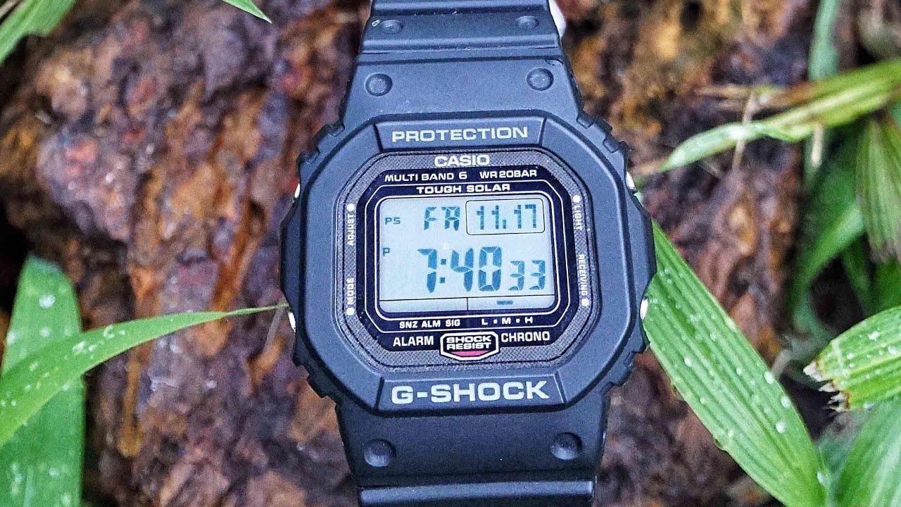 Casio G Shock GW 5000 1JF series watch unboxing & review DLC coat Screwdown back