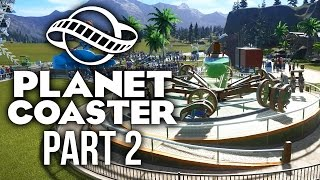 Planet Coaster Gameplay Walkthrough Part 2 - NEW RIDES (Challenge)