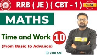 Class-10 ||#RRB (JE) (CBT - 1) || Maths || by Abhinandan Sir || Time and Work