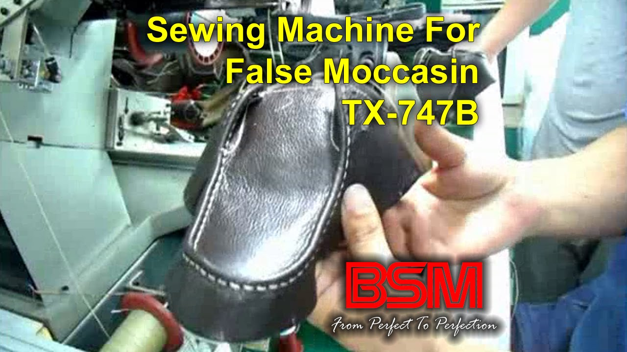 Sewing Machine for False Moccasin - TX-747B - YouTube