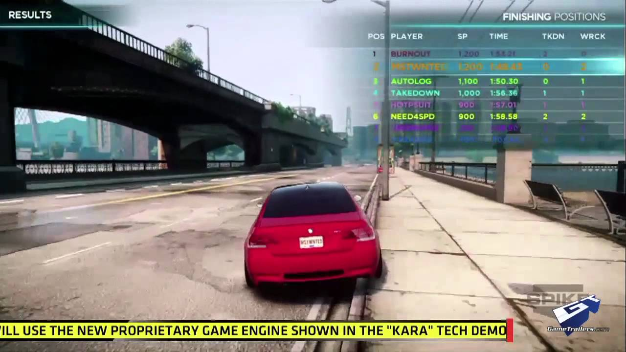 Need For Speed Most Wanted E3 2012 Multiplayer Walkthrough Youtube