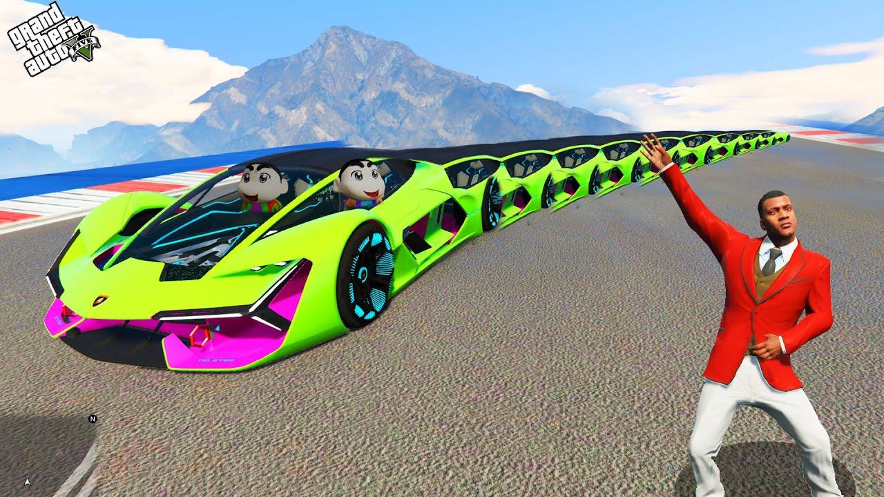 Download GTA 5 : Franklin Found World's Longest Flying Car in GTA 5 ! (GTA 5 mods)