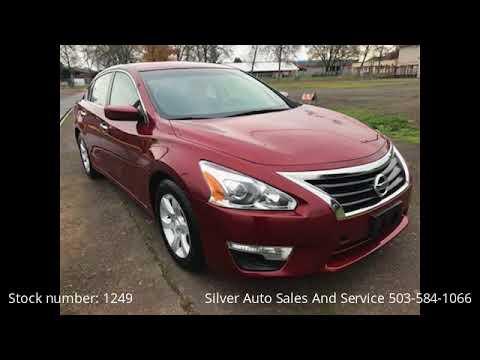 2013 Maroon Nissan Altima 2.5 S - Salem, OR 97301 - Used Cars - YouTube