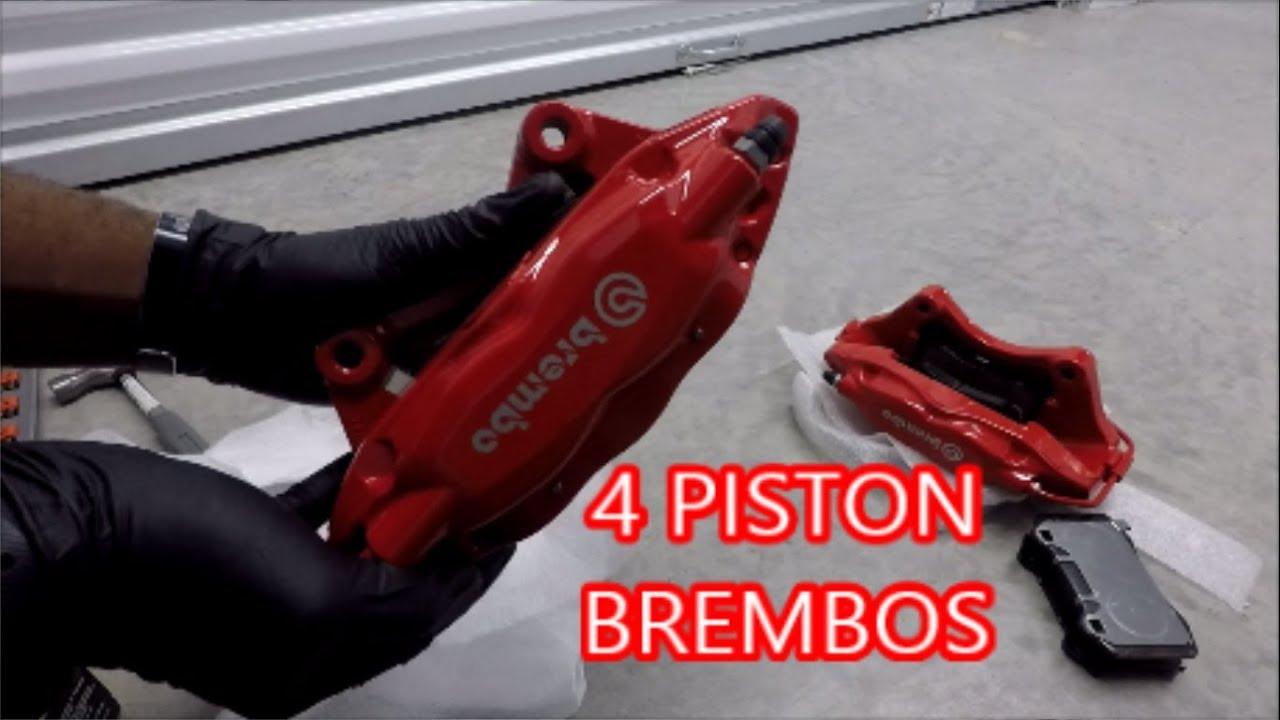 How to Change Brembo Brake Pads (4 Piston) (Akebono Performance Ceramic  Brake Pads)
