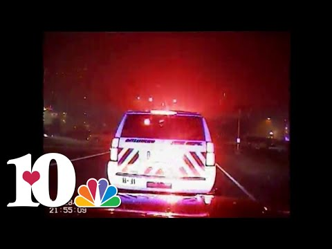 Dashcam video gives officers' view of Sevier County fires