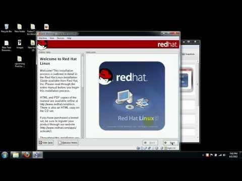 Installation of Redhat 9 in Virtualbox