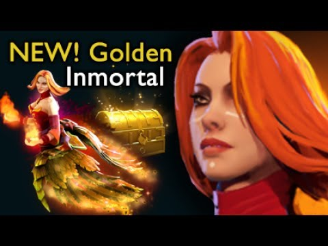 Golden Lina Immortal Arcana Neck Immortal Lina Dota D