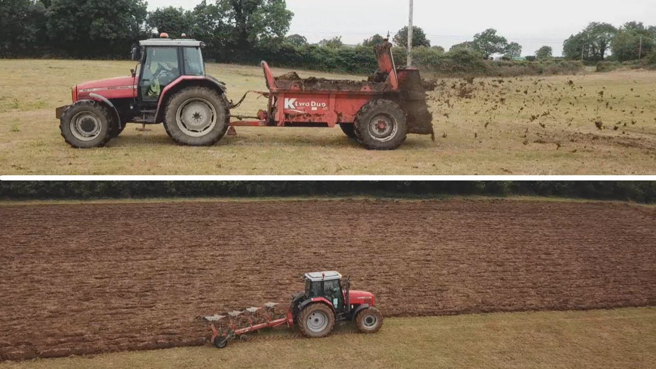 TURNING SOIL AND SPREADING MUCK -- RESEEDING PT.1