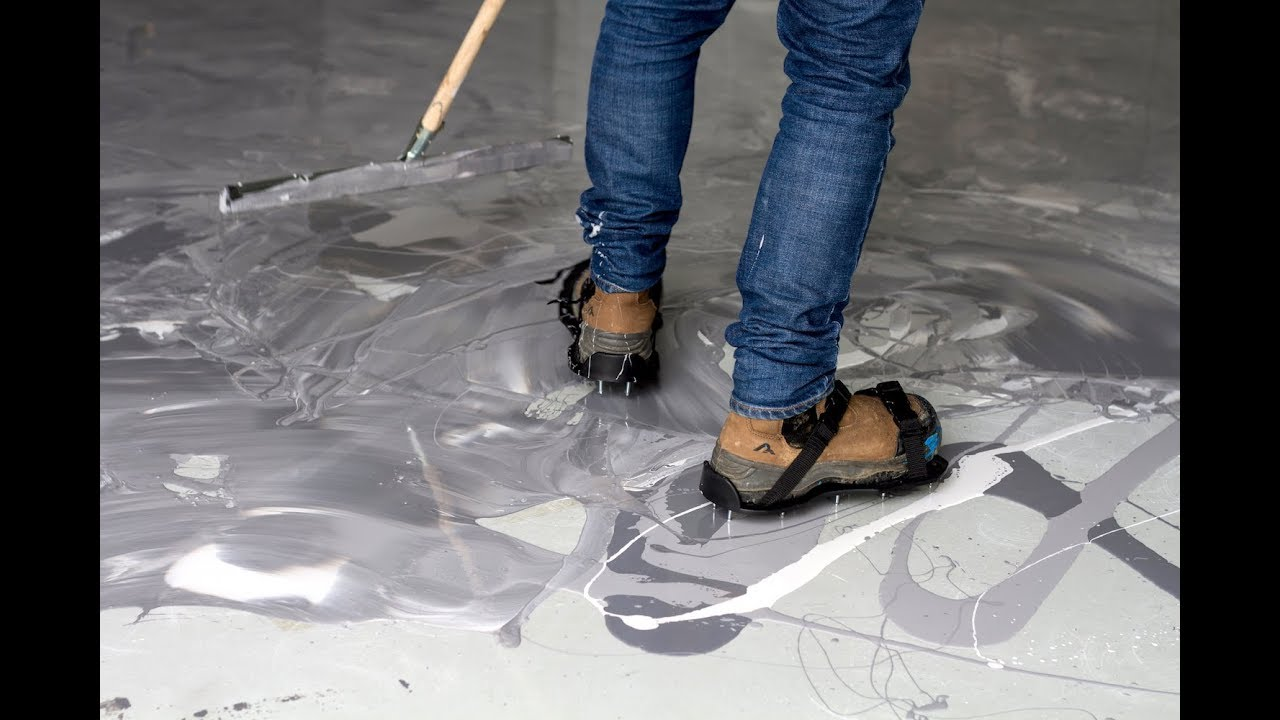 How to Marble Effect Epoxy Floor Coating Video  YouTube