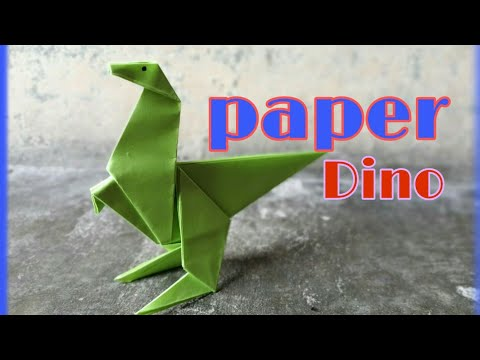 DIY | How to make a Awesome paper Dinosaur