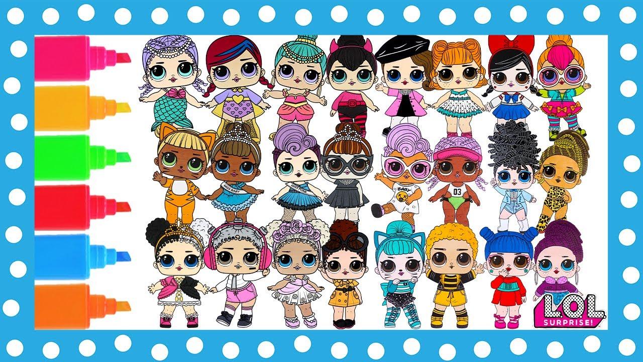 LOL Surprise Dolls Coloring Book Page Compilation Genie L.O.L. ...