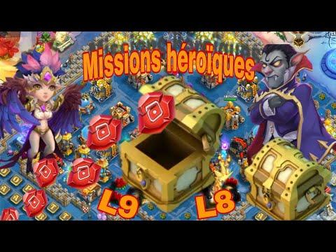 Castle Clash Missions Héroïques Go Drop Des Runes Talents 9 🤔