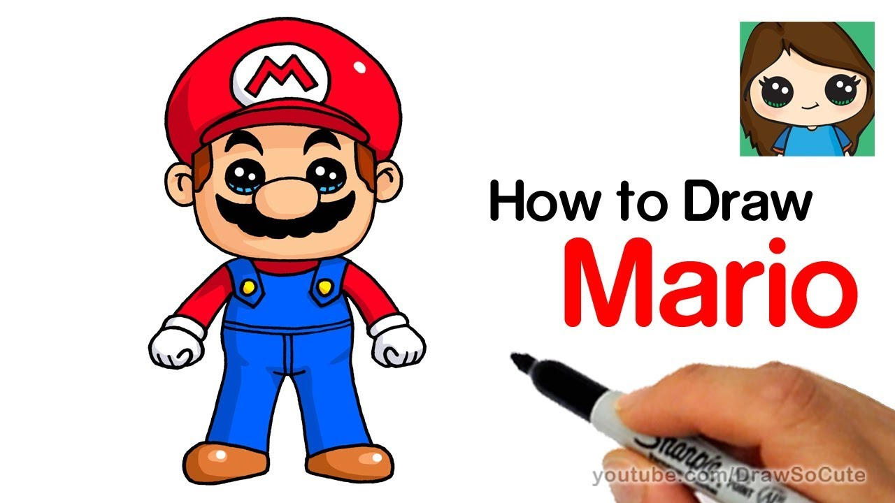 How to Draw Super Mario Easy YouTube