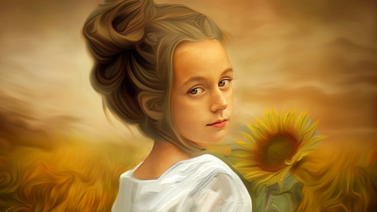 Photoshop Old Oil Painting Effect