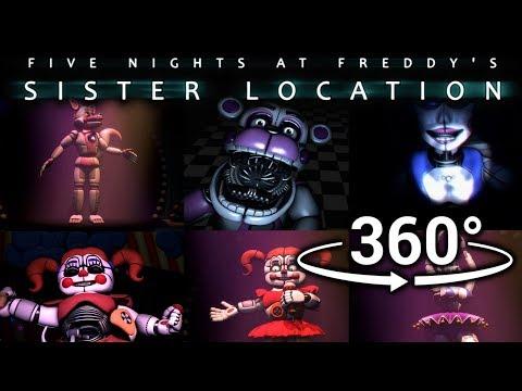 360°| Best FNAF Sister Location Compilation Part 1 [SFM] [VR Compatible]