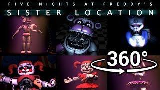 360 Best FNAF Sister Location Compilation Part 1 SFM VR Compatible