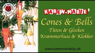 Quilling Cones & Bells/ Tüten & Glocken/ Kræmmerhuse & Klokker - Karen Marie Klip & Papir